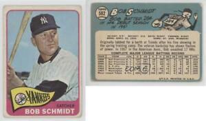 Verzamelkaarten, ruilkaarten Honkbal 1965 Topps #582 Bob Schmidt New York Yankees Baseball Card