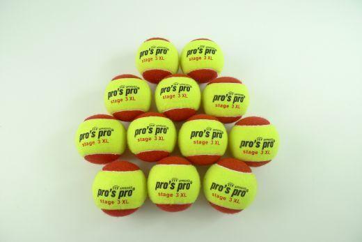 NEU60 Pro's Pro Stage 3 XL Tennisbälle Methodik Bälle Junior Kids balls 60er