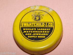 VINTAGE-WATCH-amp-JEWELRY-SWARTCHILD-amp-CO-WATCHMAKER-JEWELER-TIN