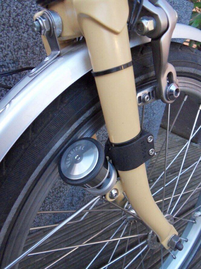 RIM DINAMO velogical Trekking Brompton FOLDING BIKE STEEL FORK FRONT fitting