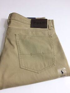 Polo-Ralph-Lauren-650-Men-039-s-Five-Pocket-Pants-Chinos-Straight-Fit-Burmese-Tan