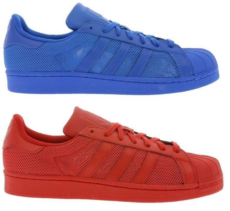 Adidas Originals Superstar Schuh Sneaker Sneaker Sneaker Turnschuh Rot B42621 Blau B42619 NEU afb139