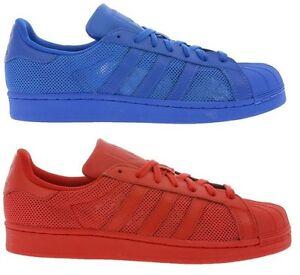 zegarek niesamowite ceny sprawdzić Details zu Adidas Originals Superstar Schuh Sneaker Turnschuh Rot B42621  Blau B42619 NEU
