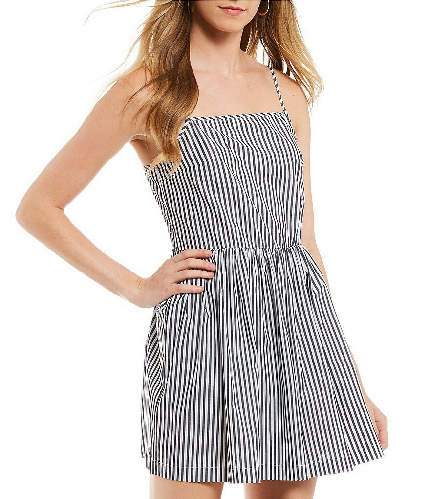 French Connection Sardinia Stripe Fit and Flare Dress Sz 4 New NWT