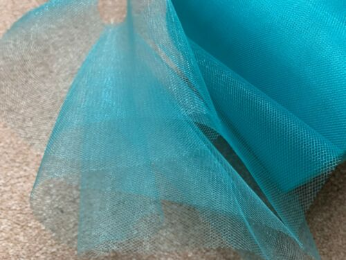 8 m de 150 mm Large Soft Nylon Turquoise Brillant Tulle Filet Tissu Mariage//Tutu
