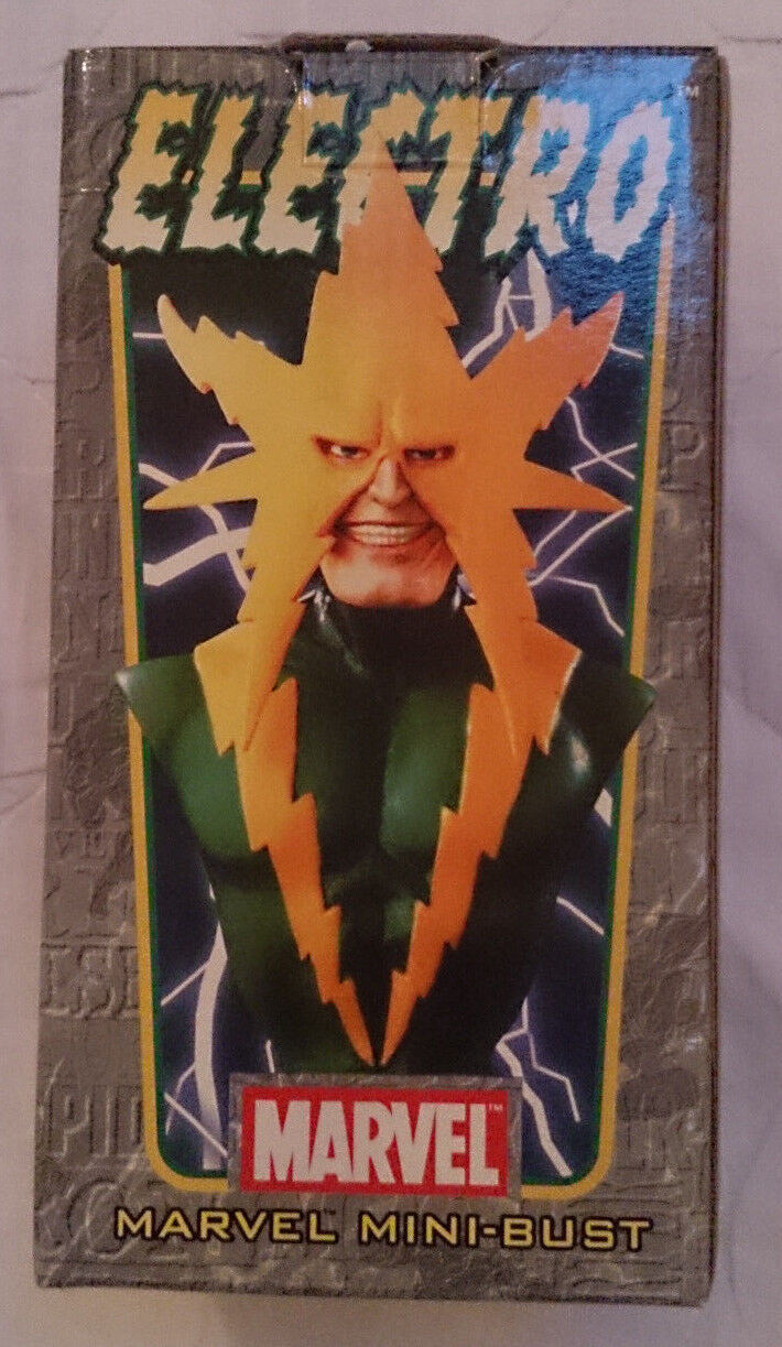 Marvel Comics Bowen Spider-man Electro mini bust statue with box