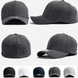 XL-2XL-Big-Unisex-Mens-Plain-Flexfit-Hat-Solid-Stretch-Fit-Baseball-Spandex-Caps