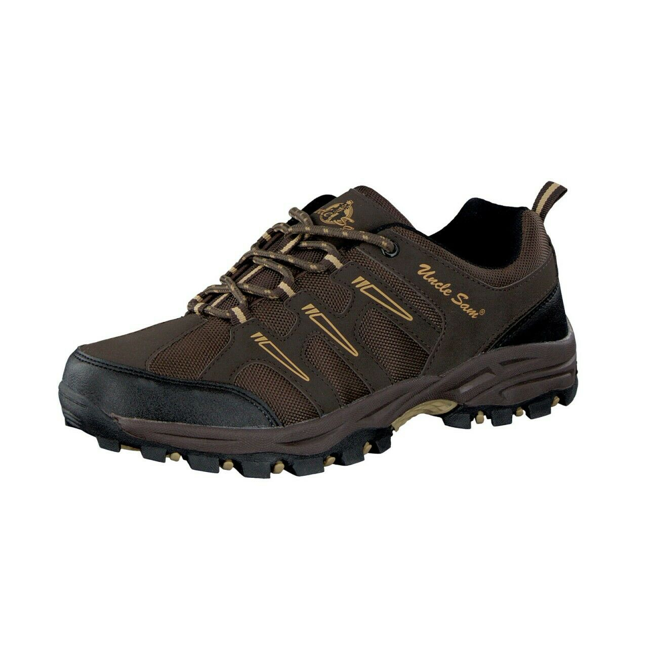 Uncle Sam Men's Outdoor shoes in Dark Brown