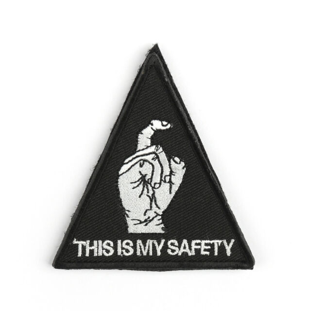 THIS IS MY SAFETY Black Hawk Down Army Swat Brand Embroidery Insignia Patch