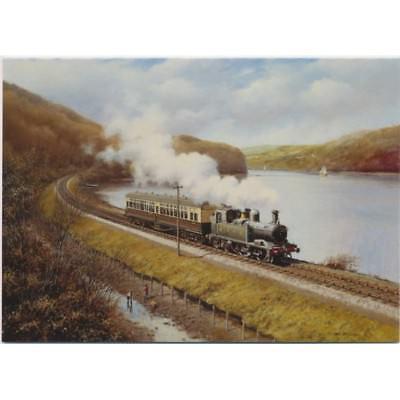 GWR Castle Trainspotting Railway Steam Train Blank Birthday Fathers Day Card