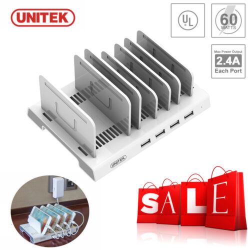 Unitek Multi Charging Station Multi Port USB Adapter Desktop Multi Charger Hub