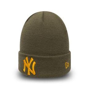 d79479029f2 New Era MLB New York Yankees League Essential Cuff Olive Green ...