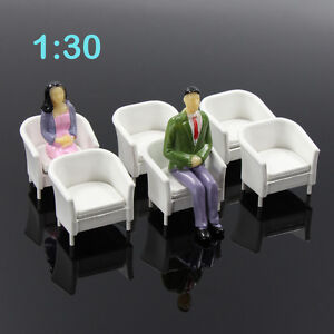 6pcs-Model-Train-Railway-Leisure-Chair-Settee-Bench-Scenery-Layout-1-30-G-Scale