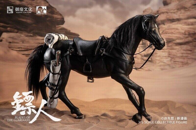 Dart Man 1 6 Knife häst Exklusiv Mount svart stjärna Staty häst modelll