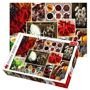 Trefl 1000 Piece Adult Large Spices Condiments Cuisine Collage Jigsaw Puzzle 5900511104707