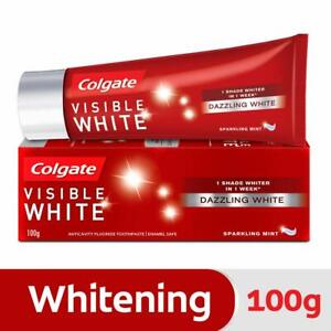 Colgate-Visible-White-toothpaste-Sparkling-Mint-100gm-teeth-whitening-plaque-AU
