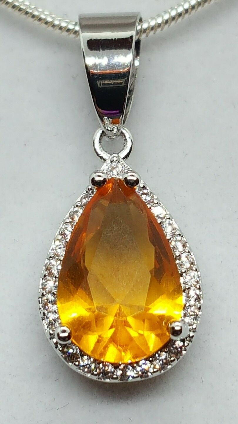 JAYNES GEMS 4CT  YELLOW CITREEN AND CHAIN