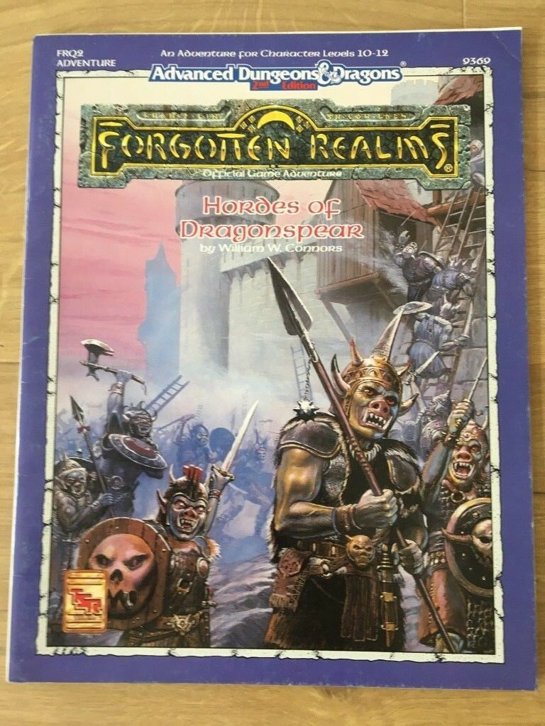 Hordes of Dragonspear Forgotten Realms Adventure AD&D 2nd Edition  FRQ2 TSR 9369