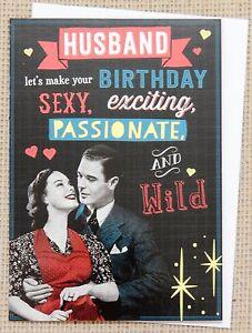 Image Is Loading Humorous Funny Husband Birthday Card Humor Male
