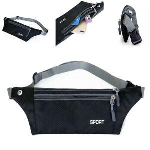 Waterproof Running Belt Fanny Pack Waist Pouch Outdoor Camping Hiking Zip Bag