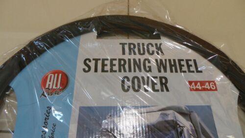 TRUCK//LORRY STEERING WHEEL COVER BLACK//CHROME DESIGN FITS WHEELS 44-46CM