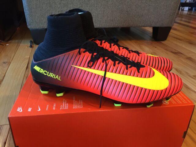 da4f2f7fe524 Nike Mercurial VELOCE III DF FG Crimson Volt Black 831961-870 Men s Size 13