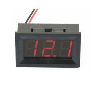 Einbau Voltmeter digital Messbereich 5-30 V DC Gleichspannung