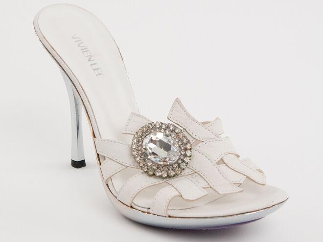 Nuevo Vivien Lee De Cuero blancoo Con Broche lapidadas lapidadas lapidadas Hecho en Italia Zapatos Talla 40 US10  punto de venta barato
