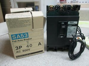 FUJI-ELECTRIC-AUTO-CIRCUIT-BREAKER-TRIPS-SA53-3P-11121255M-NIB