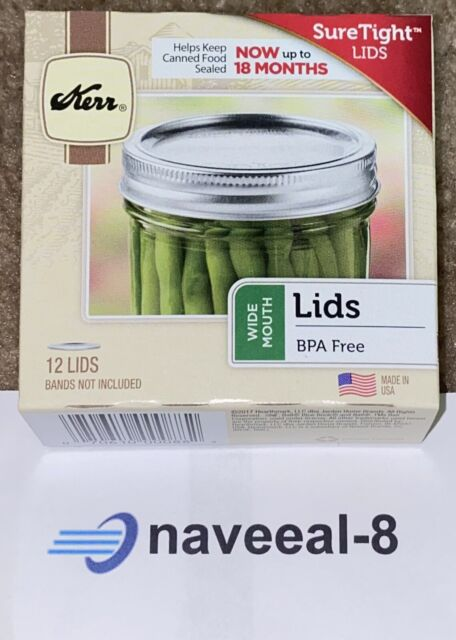 3 Box//12 BALL New Wide Mouth Dome Lids For Mason Jars Canning 36 total # 42000