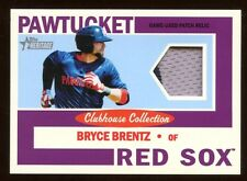 2013 TOPPS HERITAGE BRYCE BRENTZ PATCH #D /15 CLUBHOUSE COLLECTION  RARE RED SOX