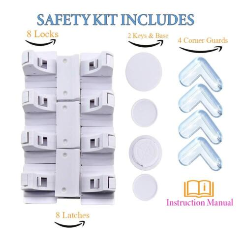 Child Proof Magnetic Safety Cabinet Locks Baby Proofing Lock for Cabinets Childp