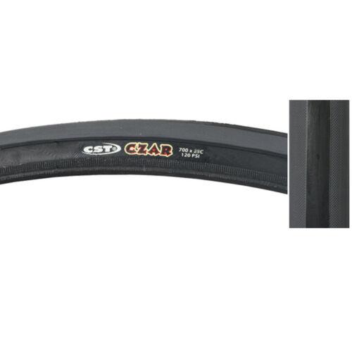 CST Czar Comp Road Tire 650x23c Black Grey Training Race Fixed Gear 650c Bike