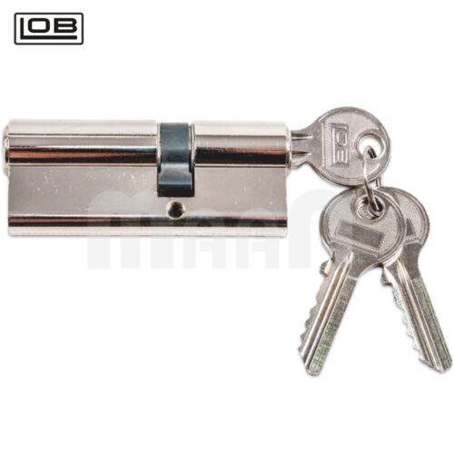 LOB Satin Schließanlage Schließzylinder 3x Schlüssel