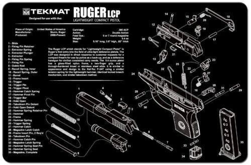 "Illustrated Gun Cleaning /& Repair Mat for Ruger Pistol 11/"" x 17/"" Neoprene Rubber"