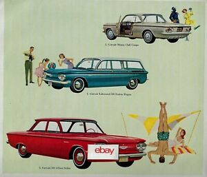 Details About Chevrolet 1961 Corvair 3 Thrifty Ways Monza Lakewood 500 To Go Wandering Ad