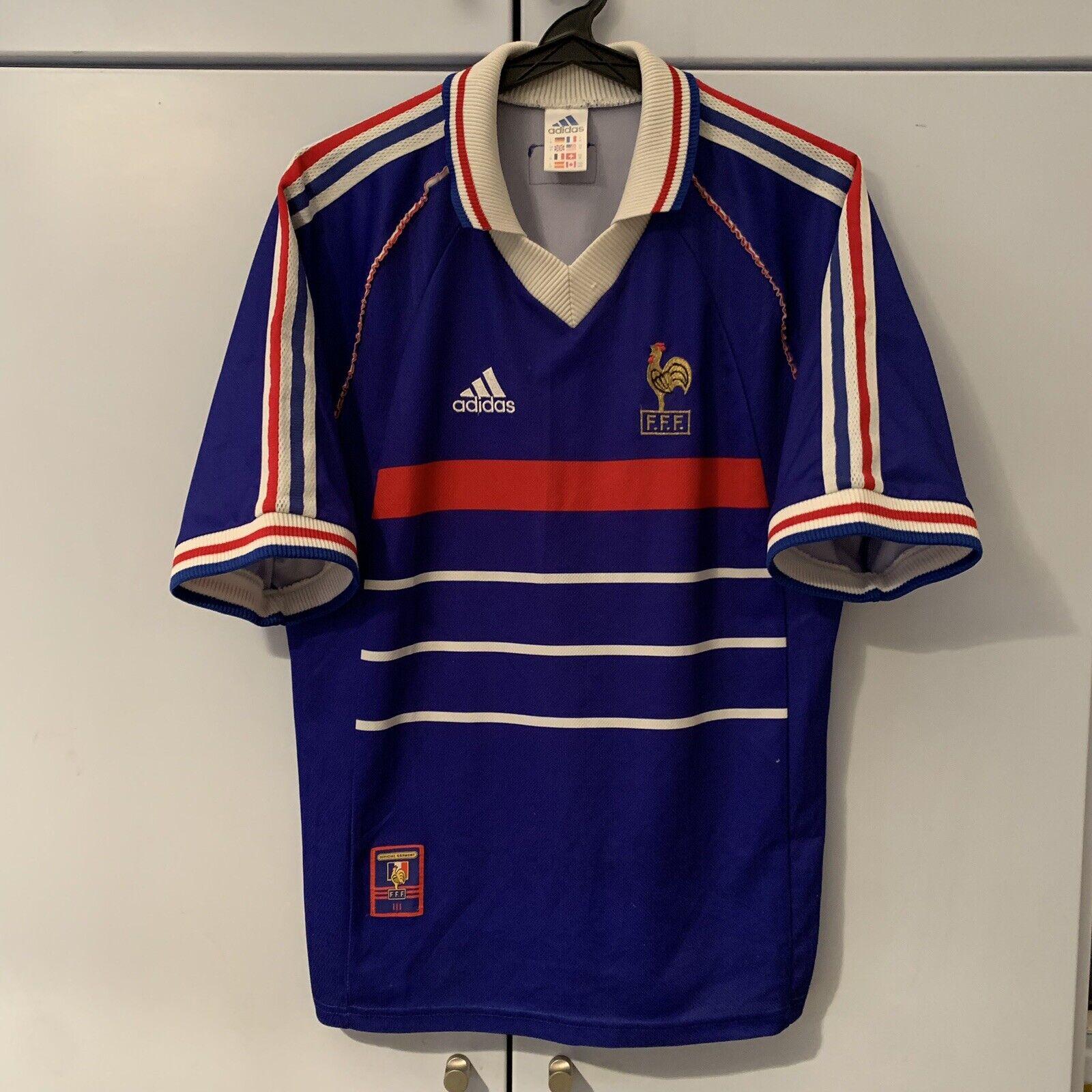 Maillot De Footbtutti Zidane France French squadra Shirt Maglia 1998 World Cup Jersey