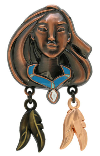 2016 Disney Bronze Pocahontas Head with Feather Dangles Pin Only