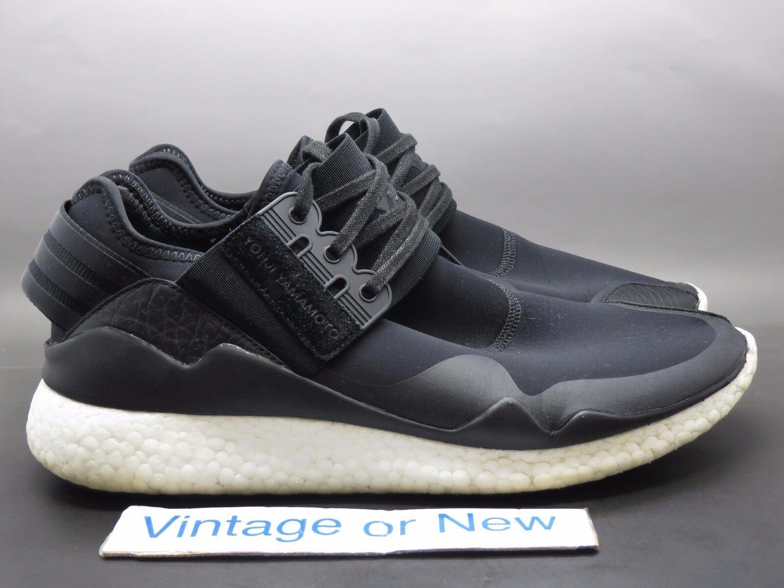 Men's Adidas Y-3 Retro Boost Yohji Yamamoto Black Running Shoes S83256 Price reduction