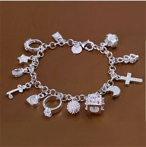 New-Wholesale-Christmas-gifts-Fashion-Jewelry-charm-silver-Bracelets-S925
