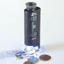 LIGHTHOUSE Zoom Microscope With LED 60x-100x Magnification. Leuchtturm1917