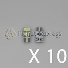 10 x Bombillas plana 4 LED SMD T10 W5W Coche Posicion Matricula... Blanco Xenon