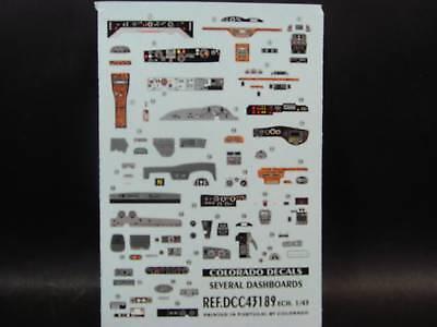 Decalbogen tableaux de bord 1:43 43189