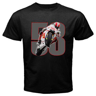GZA Rip Marco Simoncelli Sic Moto GP Rider Mens Black T Shirt