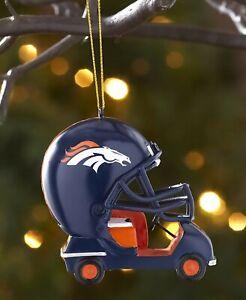 Denver Broncos NFL Helmet Cart Christmas Tree Ornament ...
