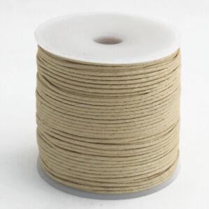 100m Baumwollband natur 1 mm rund poliert  Rolle/Spule