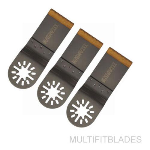 "Makita 3 X 1-1//4/"" Titanium Bi-Metal Universal Saw Blade Millwaukee Multi Tool"