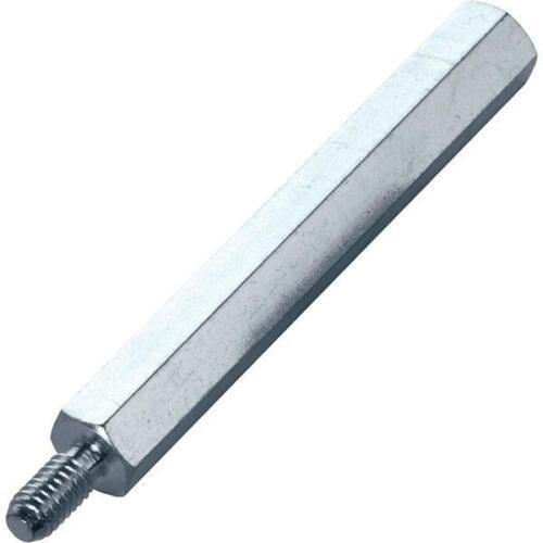 10 x PB Fastener S48050X35 Zinc Plated Steel M//F Spacers M5 x 35mm
