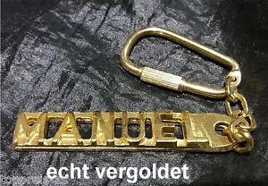 Ausdauernd Edler SchlÜsselanhÄnger Manuel Vergoldet Gold Name Keychain Weihnachtsgeschenk Schlüsselanhänger