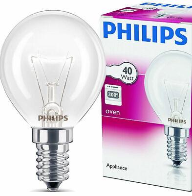 2x Philips Backofenlampe E14 40W Tropfenform 45mm temperaturfest bis 300°C